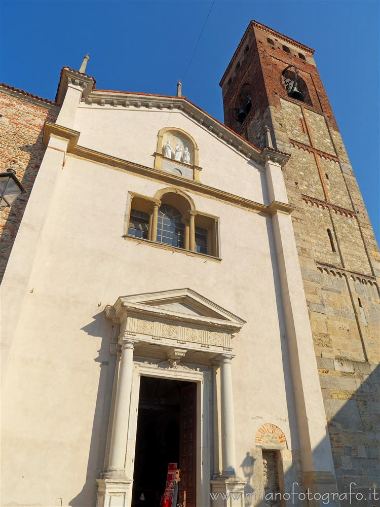 Vimercate (Monza e Brianza, Italy) - Facade of the Church of Saint Stephan